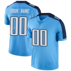 Custom Tennessee Titans Youth Limited Custom Color Rush Nike Jersey - Light Blue