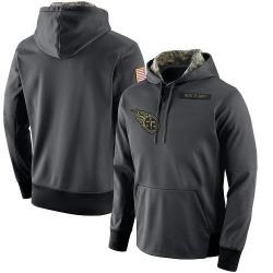 Men's Tennessee Titans Anthracite Salute to Service Player Performance Hoodie
